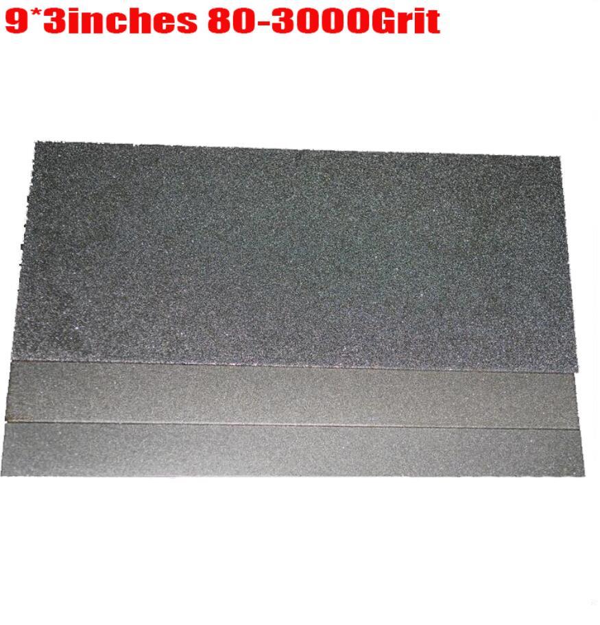 9x3.14inch  Knife diamond whetstone plate 3000 Grit 80 Grit jade polishing tools