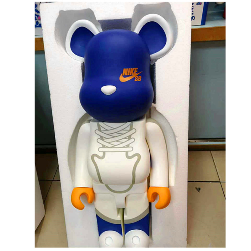 1000% 70 см модные Bearbrick быть @ rbrick поделки строительные блоки игрушка DIY граффити фигурку Мрачные медведь Коллекционная модель игрушка H96