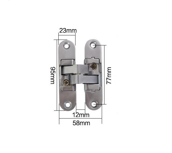 Three-dimensional folding adjustable hidden hinge / Door & Window concealed hinges x2