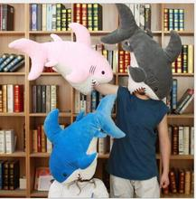 WYZHY Cute sand sculpture shark plush toy doll Nap pillow cushion 90cm