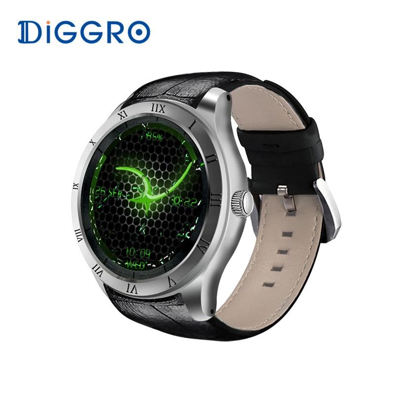 Diggro DI05 Smart Watch WIFI GPS MTK6580 Bluetooth 4.0 512MB+8GB Support 3G NANO SIM Card 1.39inch AMOLED Smart Watch PK K88H diggro di07 mtk6580 1 1ghz support 3g wifi smart watch nano sim gps calling heart rate monitor pedometer for ios android