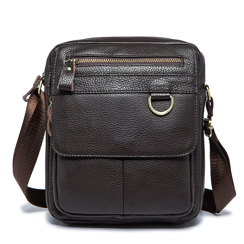 Genuine Leather Men Shoulder Bags Brown Black Business Messenger Bag Vintage Multifunction Casual Travel Crossbody Pack Rucksack genuine leather men shoulder bags brown black business messenger bag vintage multifunction casual travel crossbody pack rucksack