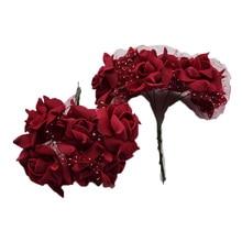 30Pcs 4cm Foam Rose Artificial Flower Bouquet Multicolor Wedding Decoration Scrapbooking Party Home Fake