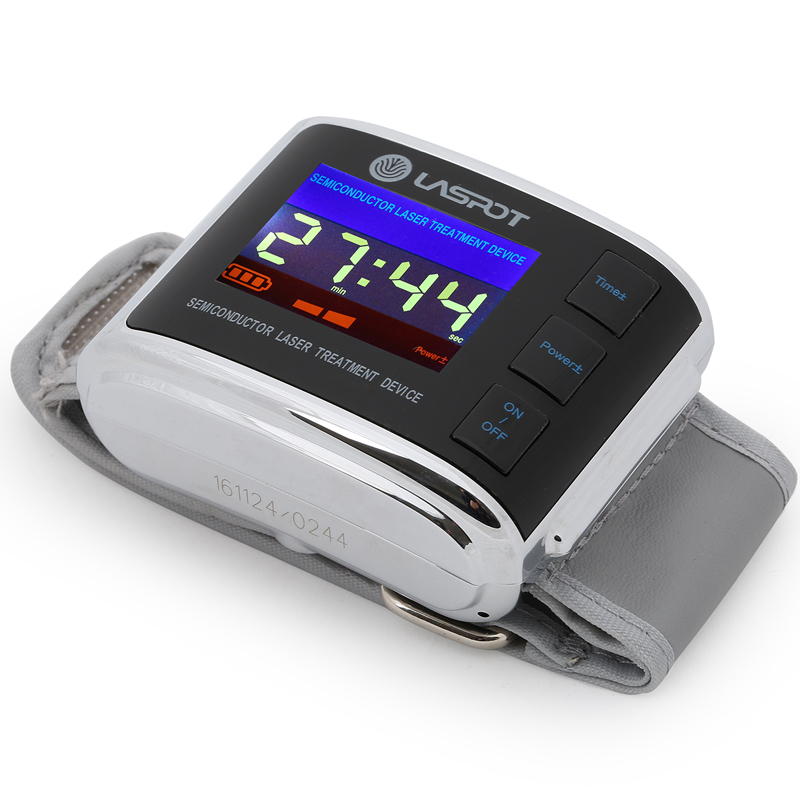 red blue laser therapy watch low level laser therapy for hypertention diabetes high blood pressure laser therapy home wrist type laser watch low frequency high blood pressure high blood sugar diabetes red light laser therapy