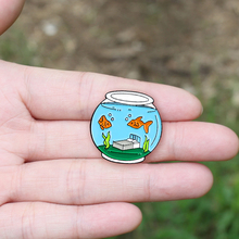 Brooch-Pin Paper-Boat Origami Swimming-Pool-Brooches Fish-Tank-Heart SS Stephen Girls