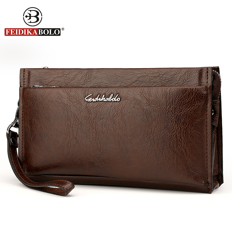FEIDIKA BOLO Brand Men Clutch Wallets Men Handy Bags Purse Monederos Carteras Masculina Hombre Men Wallets fd bolo brand wallet men leather wallets aligator handy bags coin purse monederos carteras hombre mens wallets man clutch bags
