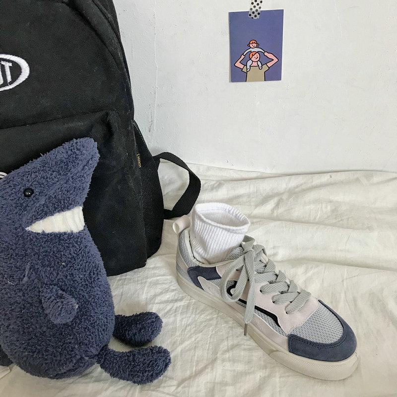 da moda sapatos de lona respirável tênis