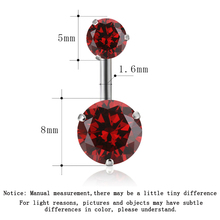 Zircon Style Crystal Body Jewelry Belly Button Ring