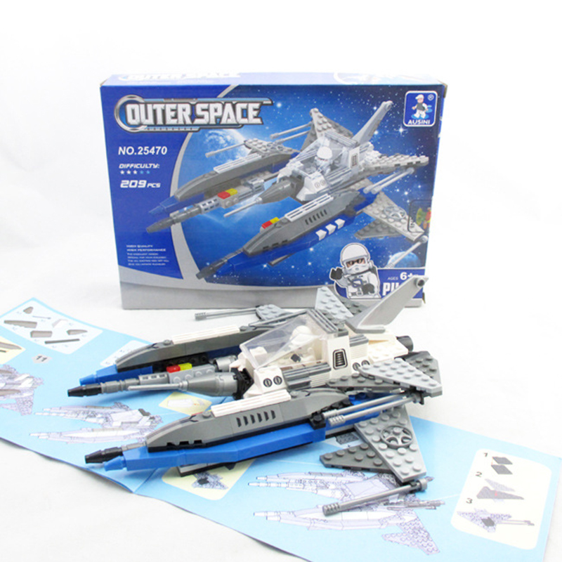 Model building kits compatible with lego city outer space for Outer space 3d model