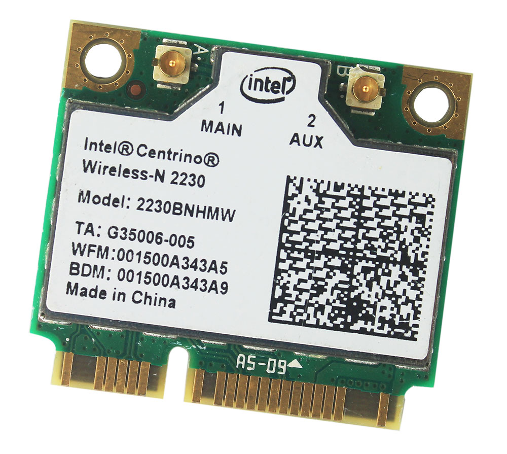 Intel Centrino Wireless-N 2230 Bluetooth 4.0 WIFI 300Mbps 2230BNHMW Μισό PCIe προσαρμογέας μίνι