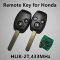 Car Remote Key for Honda Accord Element CRV CR-V Fit City Jazz Odyssey Shuttle 433MHz (Model No: HLIK-2T)