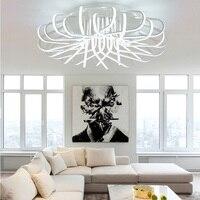 Новый Акриловые искусства светодиодный потолочный светильник дома Гостиная Спальня Кабинет лампа коммерчески освещение места приглушить
