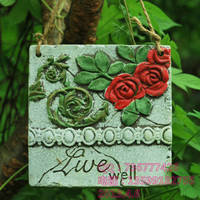 Garden shop door decoration listing, welcome to card hanging board, creative home accessories / Rose House Number