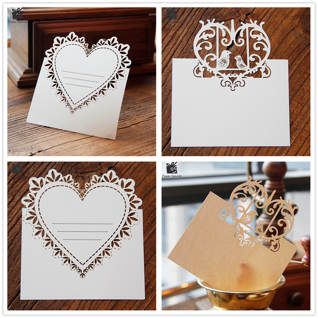 Blank Thank You 3D Laser Cut Wedding Invitation RSVP Cards Small Love Message Gift Postcards