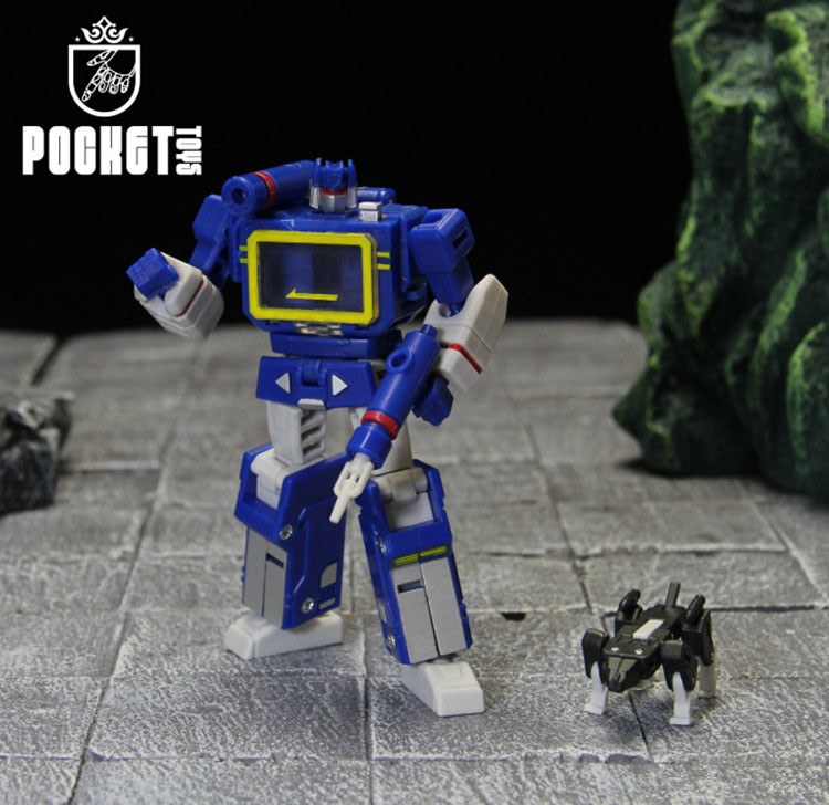 PT Transformation Soundwave PT04 PT-04 With Tape G1 Mini Pocket Guerra KO DX9 Action Figure Giocattoli Robot For Gift
