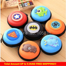 Multi-function headphones zero coin purse creative cartoon earphones storage bag zipper wallet