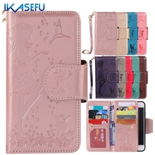 Ikasefu Роскошный кожаный бумажник чехол для iPhone 7 7 плюс 6 S 6 Plus 5SE 5S 5 флип силиконовые чехлы Коке для iPhone 7 4.7 7 Plus 5.5