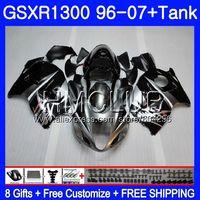 Обтекатель для SUZUKI Hayabusa GSXR 1300 GSXR1300 96 97 98 99 00 01 26HM. 2 GSX R1300 1996 1997 1998 1999 2000 2001 серебристо черный