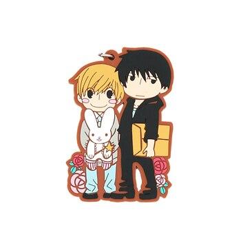 Sekai-ichi Hatsukoi Anime Strap Onodera Ritsu Takano Masamune Rubber Keychain love live sunshine aqours anime chika you yoshiko ruby dia kanan hanamaru mari riko cheerleaders rubber keychain