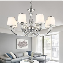 Modern Led Pendant Chandeliers Lights Bedroom Lustre Chrome Metal Lighting Crystal Living Room Hanging Light