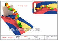 Shipped to Albania Outdoor Children Plastic Playground Nontoxic Plastic Tunnel Slide HZ 70228C