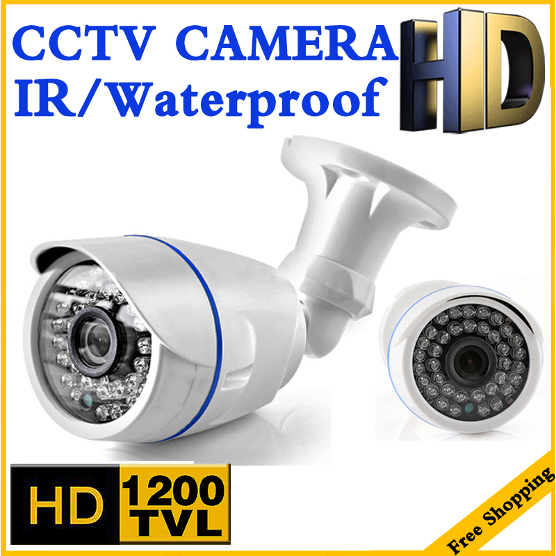 Coupe du monde BigSale Réel 1200TVL Cmos Étanche IP66 HD CCTV caméra IRCUT 36led Vision Nocturne Vidéo surveillance sécurité vidicon