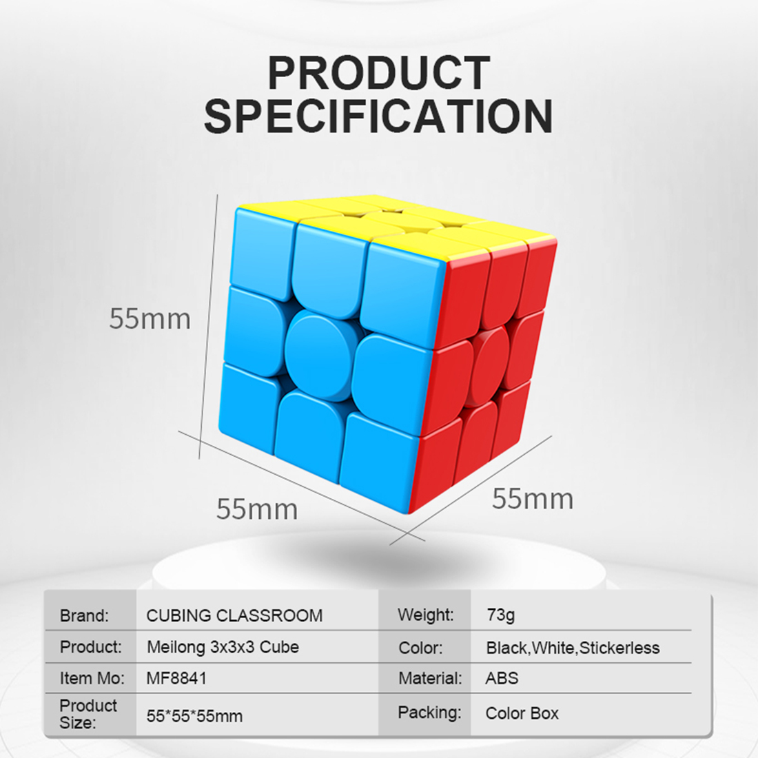 2019 New Accive Moyu MeiLong MF8841 3x3x3 Magic Cube High Quality Speed Magic Cube- Colorful