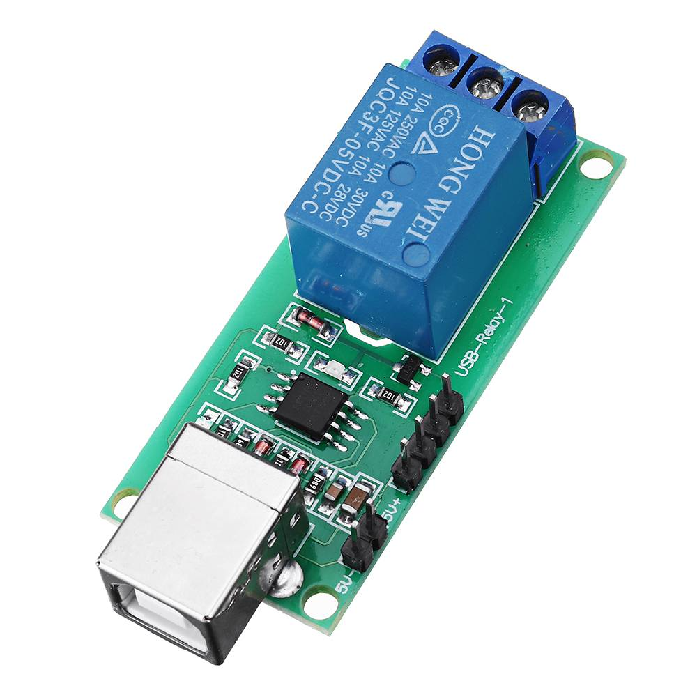 1 Channel 5V Relay Module Non-drive USB Control Switching Module 10A 250V1 Channel 5V Relay Module Non-drive USB Control Switching Module 10A 250V