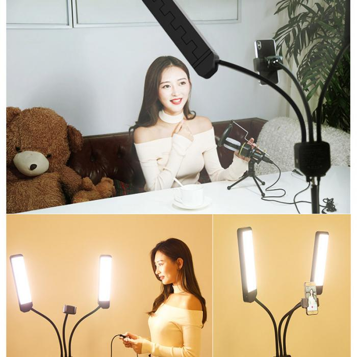 Video, Portrait, Product Photography Studio Led Light Stand With Tripod 12