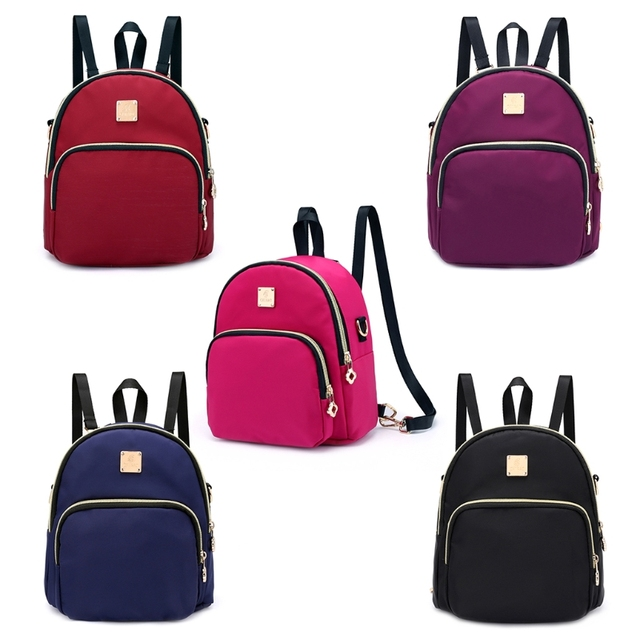 c93e74fa5d THINKTHENDO New Fashion Women Nylon Small Backpack Girl Cute Shoulder School  Bag Rucksack Satchel Mini Bookbags