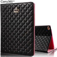 For IPad 4 Case Luxury Fashion Crown PU Leather Smart Cover For Apple IPad Mini 1