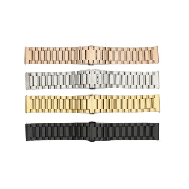 16mm 20mm 22mm de Acero Inoxidable Venda de Reloj de la Correa de Liberación Rápida para Ticwatch Correa de Muñeca Pulsera de Oro Negro plata Oro Rosa