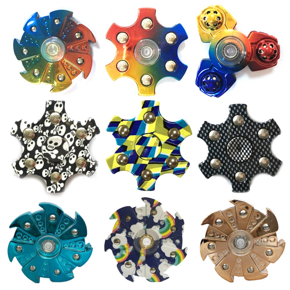 Cool Fidget Spinners Rainbow And Top Finger Spinner Camouflage Handspinner Focus Spinner Hand Finger Stress Relief Toys