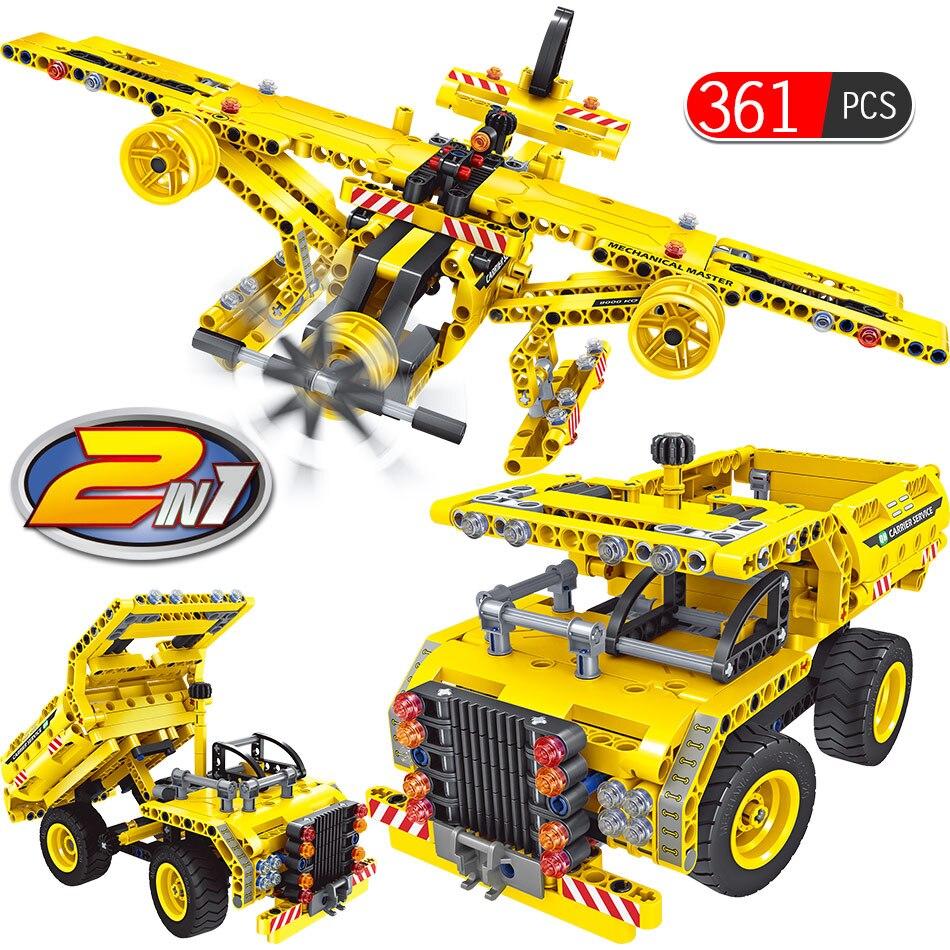 Engineering Construction Vehicles Bricks Kit Kids Digger Building Block Set