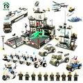 Pandadomik súper policía 1595 unids extra large set bloques de 20 figuras de juguete ladrillos compatibles con lego bloques de juguete educativo de la ciudad