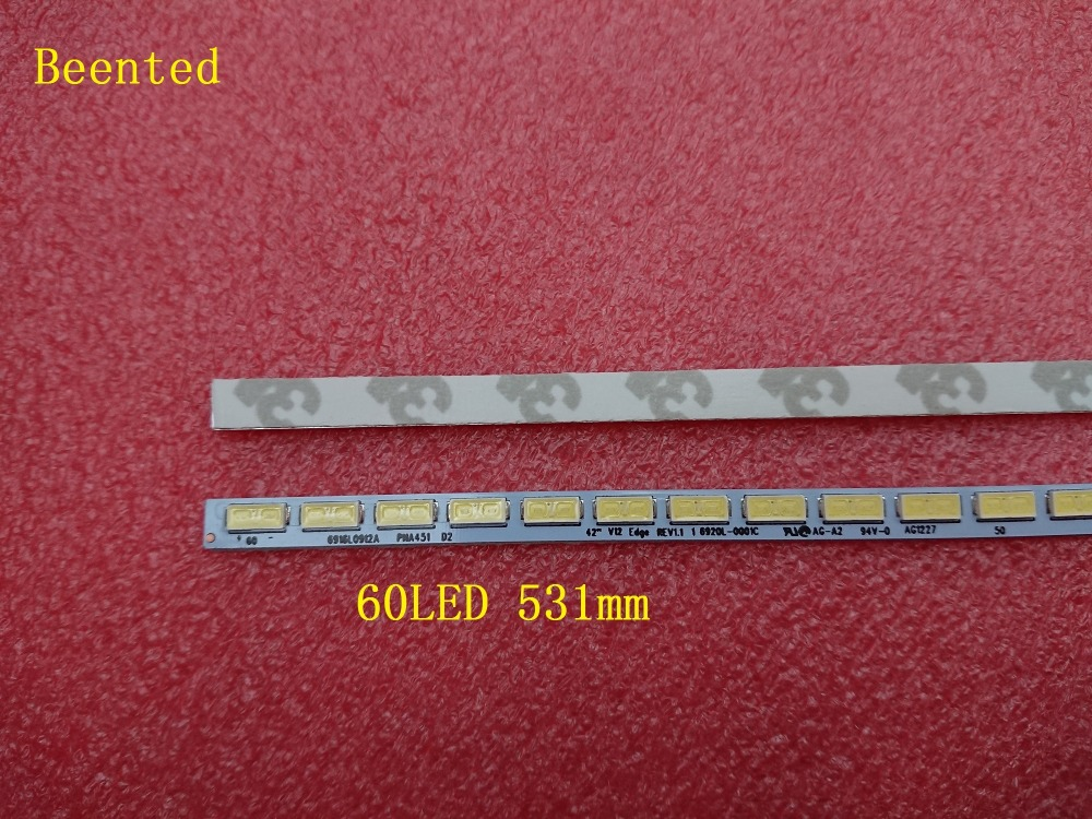 Beented 5 Pieces lot 60LED 531mm LED backlight strip 6916L0912A 69220L 0001C for 42 inch TV