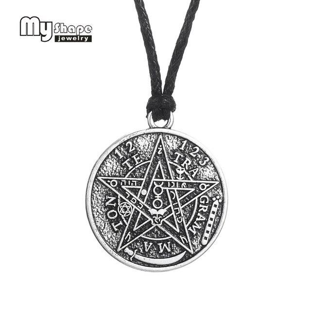 بلدي شكل العتيقة Tetragrammaton الخماسي الخماسي قلادة سحر قلادة الويكا تعويذة Pagen تميمة مجوهرات بالجملة