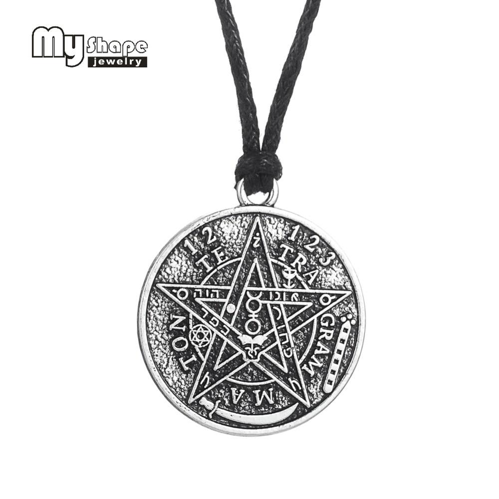 5pcs Viking Pagan Pentacle Ethnic Nordic Runes Charm Necklace Pendant