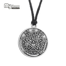 antique silver Te Tra Gram Ma Ton star pendants wizard necklace
