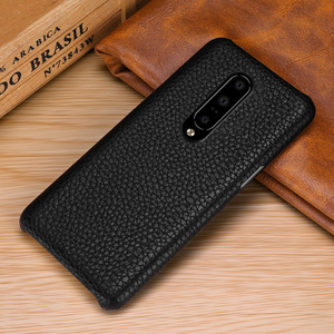 Image 3 - Genuine Leather Case Cover For OnePlus 7 Pro Retro Real Cowhide Leather Ultra Thin Slim Back Cover for One Plus 7 Pro