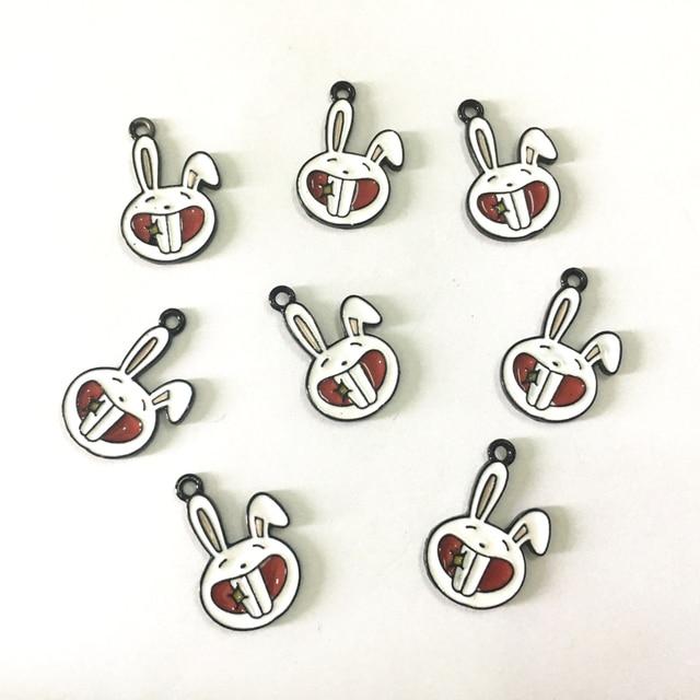 Wholesale 23mm16mm 30pcslot kawaii animal rabbit pendant charms wholesale 23mm16mm 30pcslot kawaii animal rabbit pendant charms alloy enamel diy jewelry aloadofball Gallery