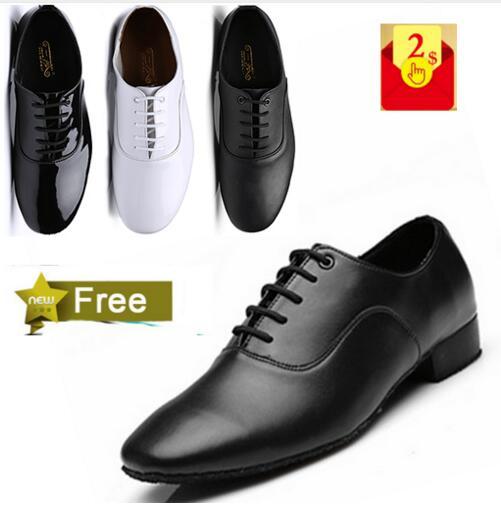 Free Shipping 2017 New Style Brand New Low Heel Modern Men's Ballroom Tango Latin Dance Shoes Man Dance Shoes Man
