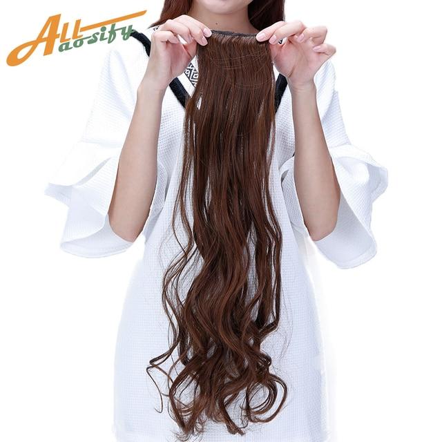 Allaosify 1 Piece 2 Clip In Synthetic High Temperature Fiber Hair
