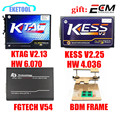 Professional Set KTAG V2.13 HW V6.070 KESS V2 V2.30 HW V4.036 FGTECH V54 Galletto 4 BDM FRAME No Time Limited ECU Chip Interface