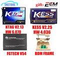 Set profesional KTAG V2.13 HW V6.070 KESS V2 V2.30 HW V4.036 V54 FGTECH Galletto 4 MARCO de BDM Sin Tiempo Limitado Viruta del ECU interfaz