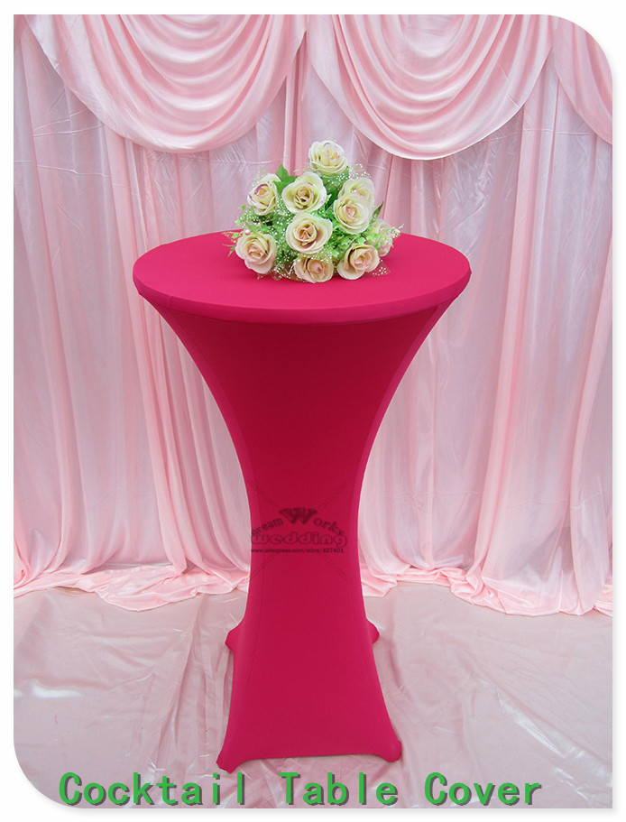 31 Colors Lycra/Spandex Cocktail Table Cover/Tablecloth for Wedding/Hotel/Banquet/Party decor&textile-Factory direct sales