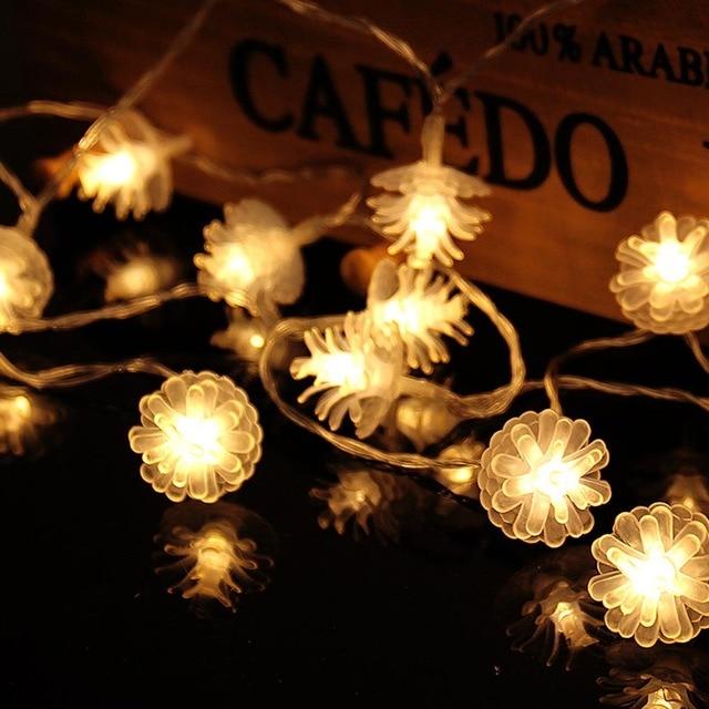 22m 20 pine cone leds string lights christmas tree holiday decoration string light wedding lamp