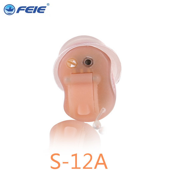 High Quality Personal Sound Amplifier Micro Ear 4 Channels Programmable Digital ITC Hearing Aid S-12A RIGHT EAR  Free Shipping