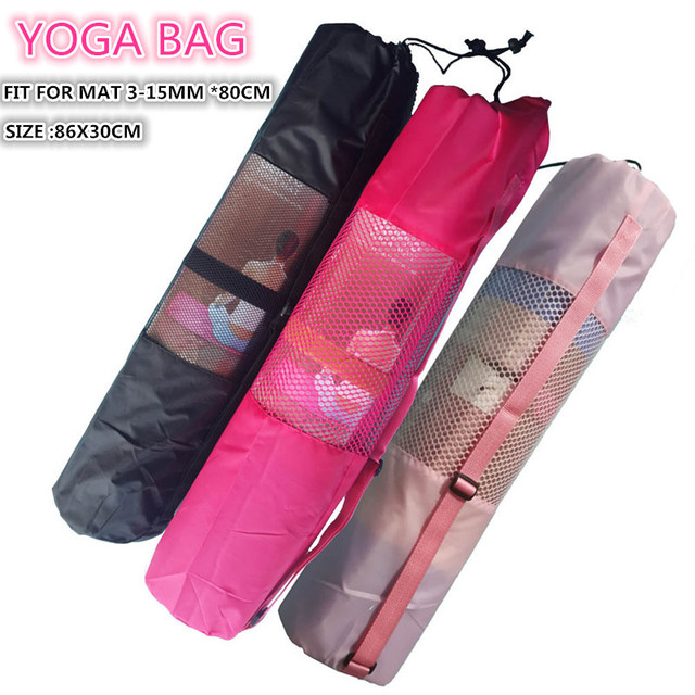 9823196e6c5b Extra Large Yoga Mat Carry Bag for Men and Women With Adjustable Strap  Drawstring Opeing Mesh