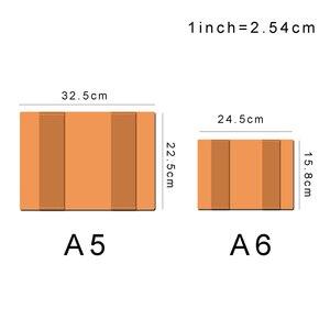 Image 2 - Винтажная Подлинная кожаная записная книжка календарь, чехол А5 А6 размера, защитный чехол для журнала ручной работы, органайзер для набросков из воловьей кожи